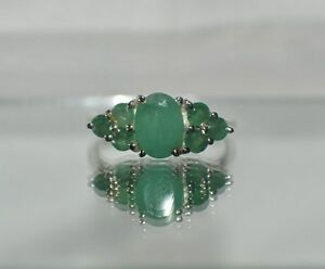 2.35 ct. NATURAL GENUINE  EMERALD DINNER COCKTAIL TRIBAL GYPSY  RING