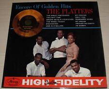 THE PLATTERS ENCORE OF GOLDEN HITS ALBUM 1960 MONO MERCURY RECORDS MG 20472