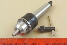 "NEW GENUINE MT3 JACOBS 1/2"" CAPACITY TAILSTOCK DRILL CHUCK 4 LATHE MORSE TAPER 3"