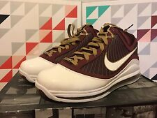 Nike Air Max LEBRON VII 7 CHRIST THE KING CTK MAROON RED WHITE GOLD 375664-601