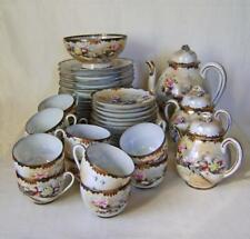 More details for fine antique  japanese eggshell porcelain tea set: 12 settings: 44 pieces