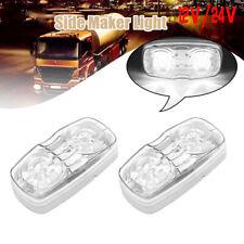 2x Trailer Marker 10-LED Light Double Bullseye 10 Diodes Clearance Lamps White