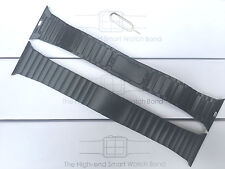 Black Stainless Steel Bracelet Butterfly Watch Strap Series 1 2 Apple Watch 42mm