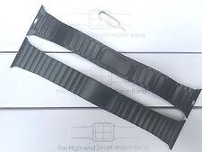 Bracciale in acciaio inox nero Cinturino Orologio Per Orologio Apple SERIE 1 2 3 42mm UK