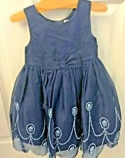 Nwt New Janie and Jack Special Occasion Easter Navy Blue Silk Dress 2 Year $199
