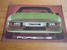 PORSCHE 924 UK PRESTIGE CAR BROCHURE 1977 jm