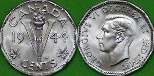 1944 Canada Nickel Graded as Brilliant Uncirculated