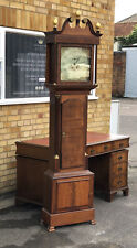 More details for georgian oak grandfather clock. j harding of preston 8 day. open to offers