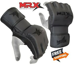 MRX MMA Gloves Grappling Punching Bag Training Boxing Martial Arts Sparring Mitt