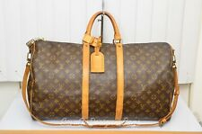 Louis Vuitton LV Keepall 55 Badouliere Travel Gym Duffle Bag Used AUTHENTIC