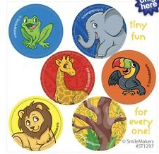 60 Jungle Zoo Animals Stickers Party Favors Teacher Supply Lion Elephant Frog