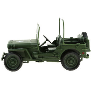 1/18 Willys WWII Jeep SUV Car Toys Home Tabletop Decorative Party Favors