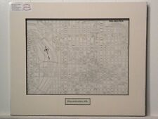 Antique Original Rand McNally Map of Philadelphia PA, matted with inset title