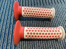* NOS VINTAGE FUAN F1 GRIPS OLD SCHOOL RED W/ WHITE SLEEVE  BMX FREESTYLE