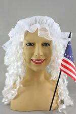 Betsey Ross Revolutionary Woman's Costume Kit Wig Mop Cap Flag Betsy Ross SALE