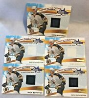 (5) LOT 2001-02 Bowman Young Stars Nick Boynton BOSTON BRUINS Game Worn Jerseys