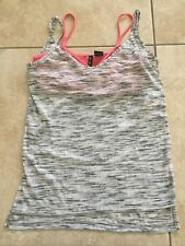 NWT Ultra Flirt Juniors' Printed High-Low Tank with Strappy Bralette Size S