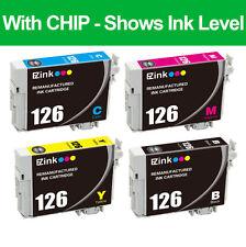 4PKs Remanufactured 126 Ink Cartridge For Epson Workforce WF-3530 WF-3540