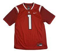 #1 Rutgers University Nike Team Football Jersey Red Scarlet Knights NCAA