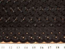ALLOVER POLY COTTON EYELET SCALLOPED EDGE EMBROIDERY FABRIC $9.99/YARD