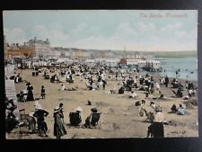 Dorset WEYMOUTH THE SANDS c1910 Old Postcard by Valentines 64667