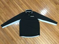 FILA Black 1/4 zip athletic pullover men's size L