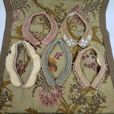 Lot of 5 Vintage Truly Regal Art Craft Beaded Collar Faux Pearl Made In Japan