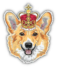 Pembroke Welsh Corgi Dog Head Car Bumper Sticker Decal 4'' x 5''