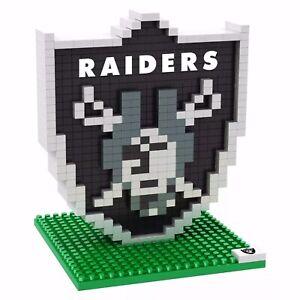 Oakland Raiders NFL 3D BRXLZ Team Logo Construction Block Set Toy