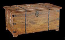 médiévale bois Coffre avec kassettendeckel ET CROIX Boîte de caisse métal