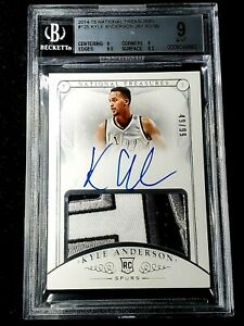 2014-15 NATIONAL TREASURES KYLE ANDERSON TRUE ROOKIE AUTOGRAPH PATCH /99 AMAZING
