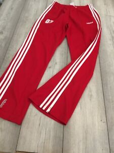 VINTAGE ADIDAS TRACKSUIT BOTTOMS SIZE LADIES 12 RED 2003