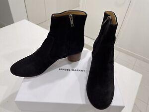 BRAND NEW ISABEL MARANT DUSTA BOOTS IN FADED BLACK SZ 39