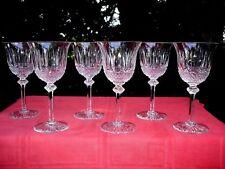 SAINT LOUIS TOMMY 6 SAKÉ SET SHOT GLASSES VERRES CAVE A LIQUEUR CRISTAL TAILLÉ