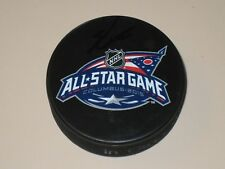 Ryan Nugent Hopkins signed 2015 NHL All Star Hockey Puck COA Edmonton Oilers