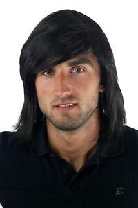 Lange schwarze haare mann