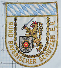 GERMANY, BUND BAYERISCHER SCHUTZEN E.V. BAVARIAN MARKSMAN ASSOC PATCH