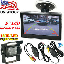 "Bus Truck Rear View Kit 5"" LCD Car Monitor + Wireless IR Reversing Backup Camera"