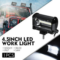 4.5 Inch 54W 18 LED Work Light Bar Combo Driving White Lamp SUV Car UTV 4WD