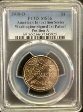 2018-D Innovation Dollar 1st Patent Coin PCGS MS66 Position A
