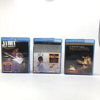 Lot (3) Jimi Hendrix Live at Monterey, at Woodstock, Jimi Plays Berkeley Blu-Ray