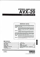 Yamaha Service Manual  für AVX- 20