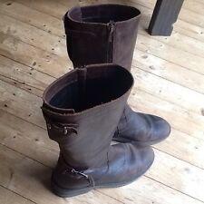 Bikkemberg Lederstiefel,Boot,Gr 37,38,UK4,5,Vintage-Braun