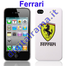 Custodia PVC Ferrari Style White/Bianco Bulk x Apple Iphone 4