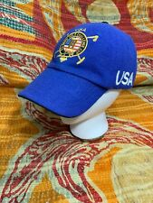 Polo Ralph Lauren Snow Challenge Cup USA Lined Wool Hat Stadium 92 VTG Lether