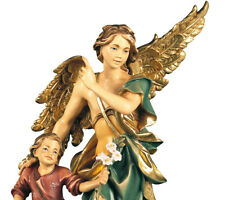 St. Raphael Archangel With Tobia Child IN Wood - St.Rhafael Woodcarving