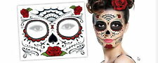 RED ROSE DAY OF THE DEAD  Dia de los Muertos Face Mask  Tattoo New Gift