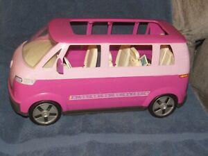 Barbie Volkswagen VW Microbus SUV Van Car Sliding Door Horn 2002 Purple & Pink