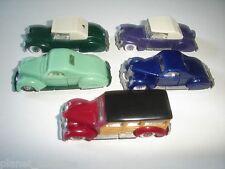 AMERICAN LIMOUSINES 1930's VARIATIONS VINTAGE MODEL CARS SET 1:87 H0 MINIATURES