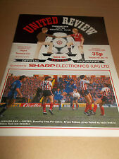 MANCHESTER UNITED V NORWICH CITY 1984 DIVISION ONE FOOTBALL PROGRAMME